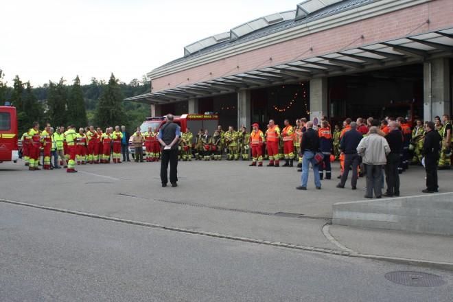 Hauptübung der Feuerwehr der Stadt Brugg und der Gemeinde Riniken