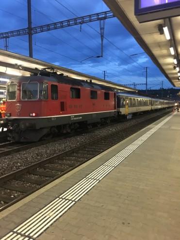 Lokomotivenbrand im Bahnhof Brugg