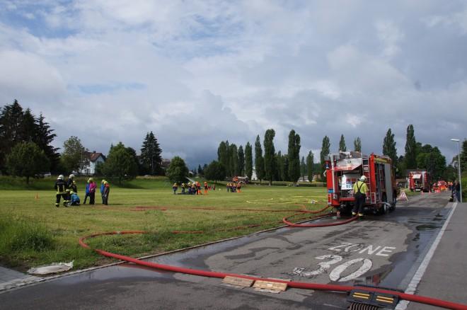 Gemeinsame Übung Jugendfeuerwehren Wasserschloss und Schenkenbergertal