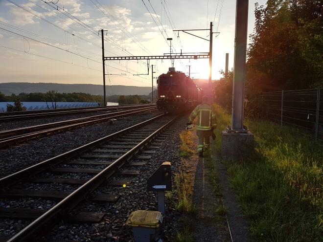 LRZ Einsatzübung Brand Personenzug